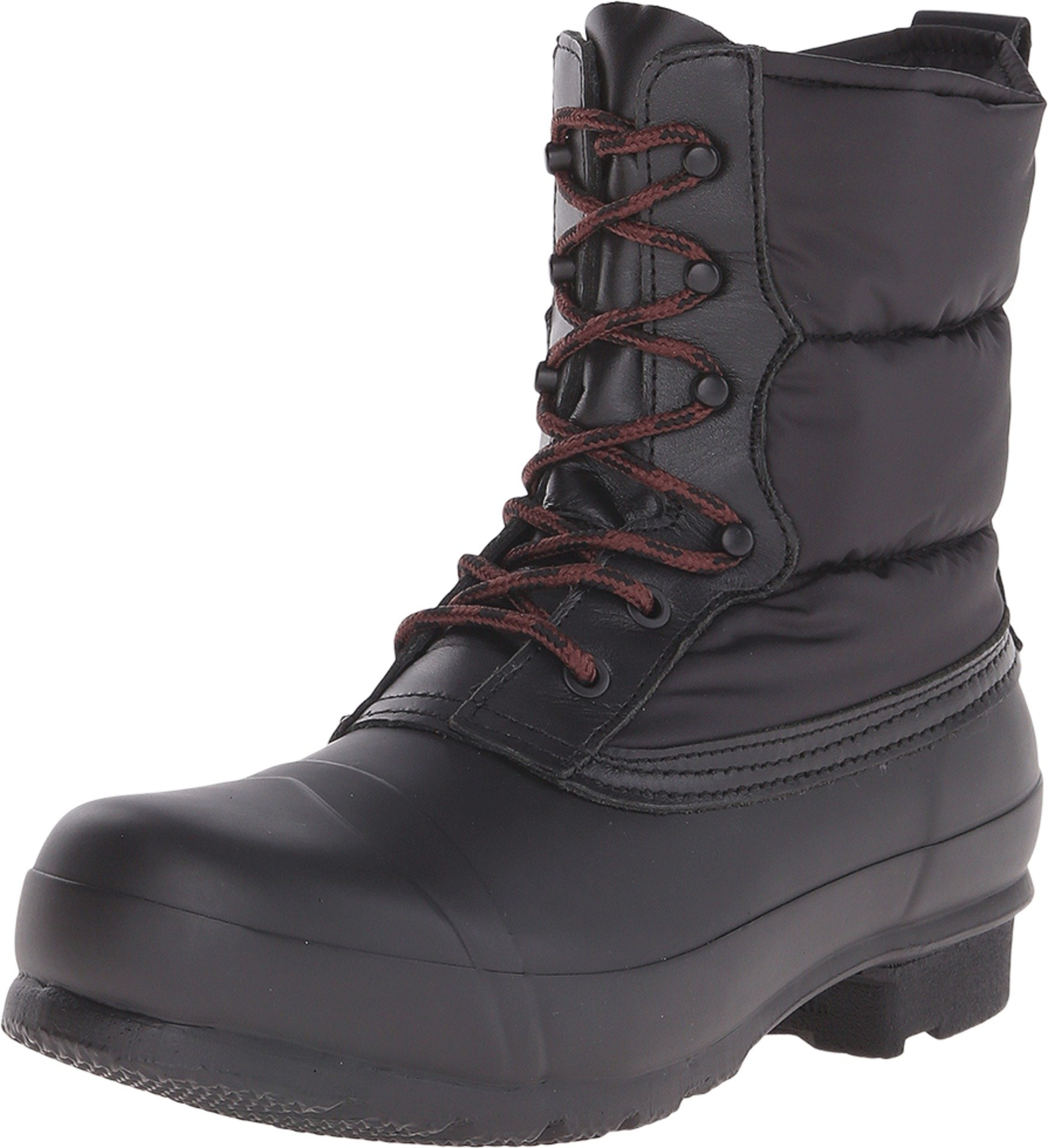 Hunter Womens Original Quilted Lace-Up Boots Black Rain Boot - 10 by Hunter