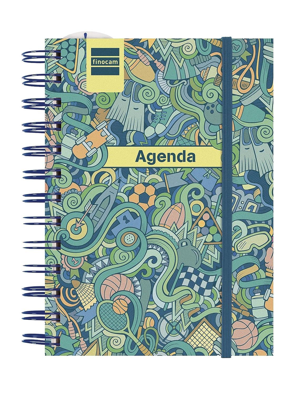 Finocam Mini Institut - Agenda 2018-2019 1 día página catalán, 120 x 169 mm, sport: Amazon.es: Oficina y papelería
