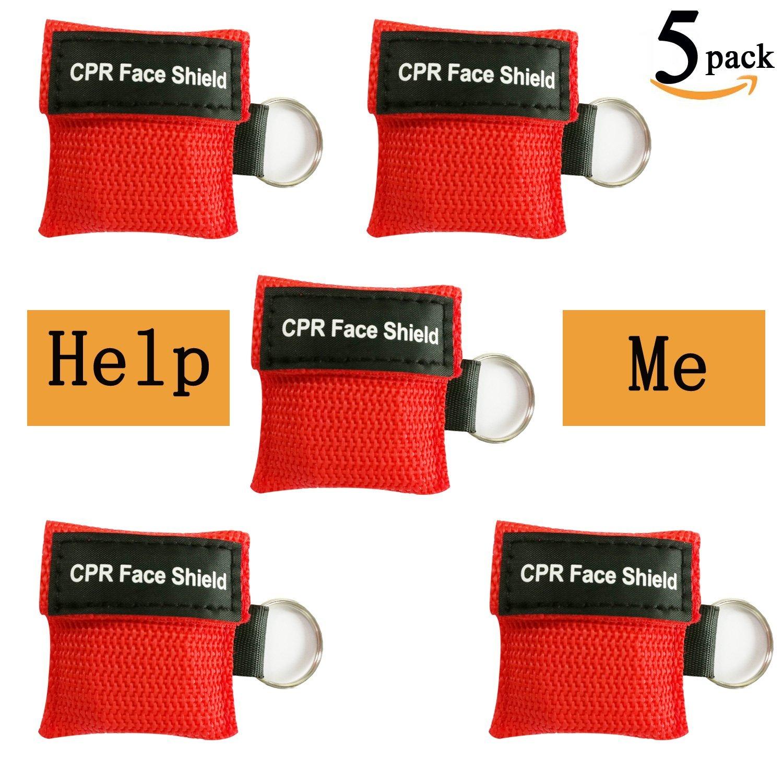 CPR máscara con llavero y One-way válvula para primeros ...