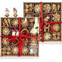 com-four® Adornos de árbol de Navidad de 112