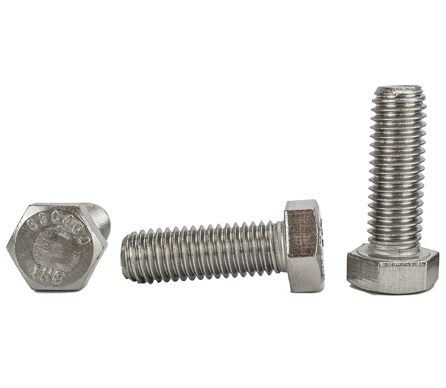 Stainless 1/2-13 x 4 Hex Head Bolts (3/4 To 5' Lengths Available in Listing), 304 Stainless Steel, 25 pieces (1/2-13 x 4) Chenango Supply