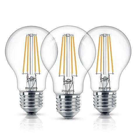 Philips – Bombilla LED (A60 intensidad no regulable bombillas de luz blanca cálida, E27