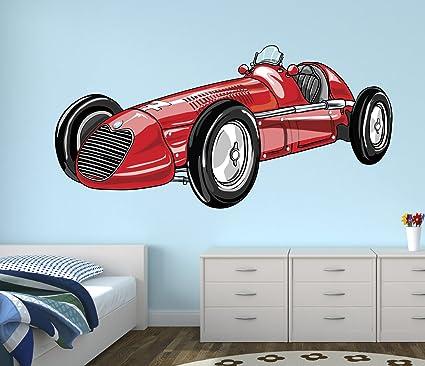 Amazon.com: Vintage Sport Race Car Wall Decal Nursery Art Kids ...