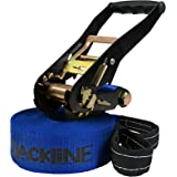 ALPIDEX Slackline 15 m for beginners and advanced, max. load 2 tons, included transport bag