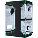 MAXSISUN 2-in-1 3x2 Grow Tent 600D Mylar Hydroponic Indoor Plants Growing Tent with Observation Window and Floor Tray…