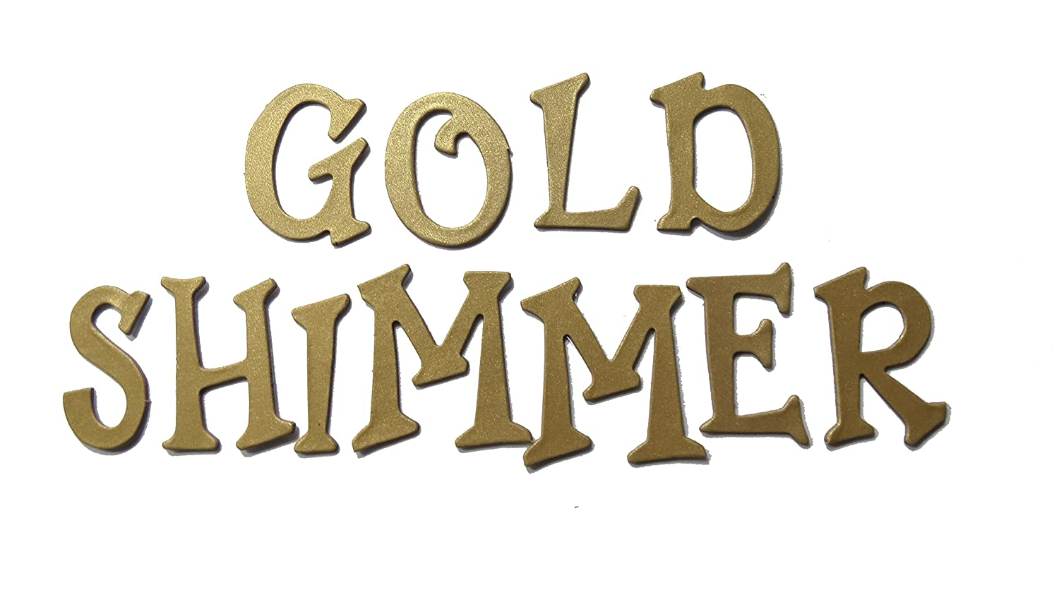 Shimmer Chipboard Handcut 1.5 Alphabat Letters 60 Pieces Stickers Fun Serif Fnnt Uppercase Gold