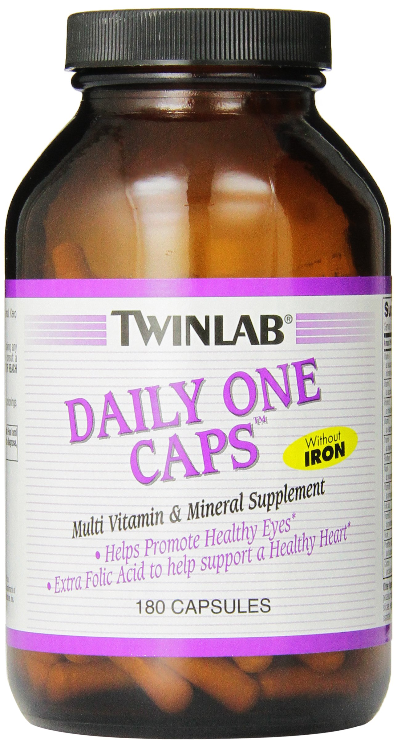 Twinlab Daily One Caps Multi-Vitamin and Multi-Minerals without Iron, 180 Capsules by Twinlab