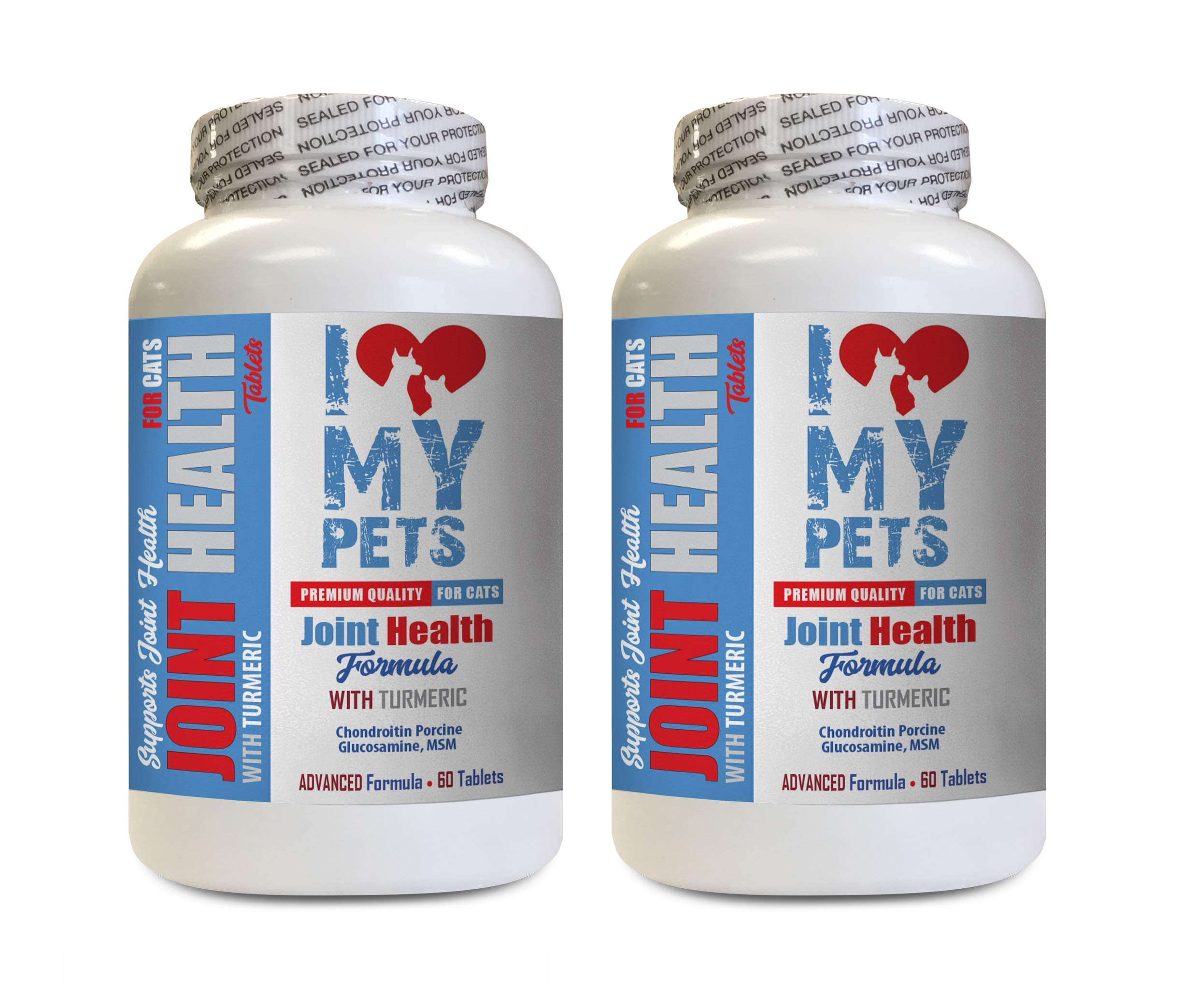 I LOVE MY PETS LLC Hip and Joint cat Treats - Cats Joint Health with Turmeric - Powerful Formula - VETS Choice - Hip and Joint Support for Cats - 2 Bottles (120 Treats) by I LOVE MY PETS LLC