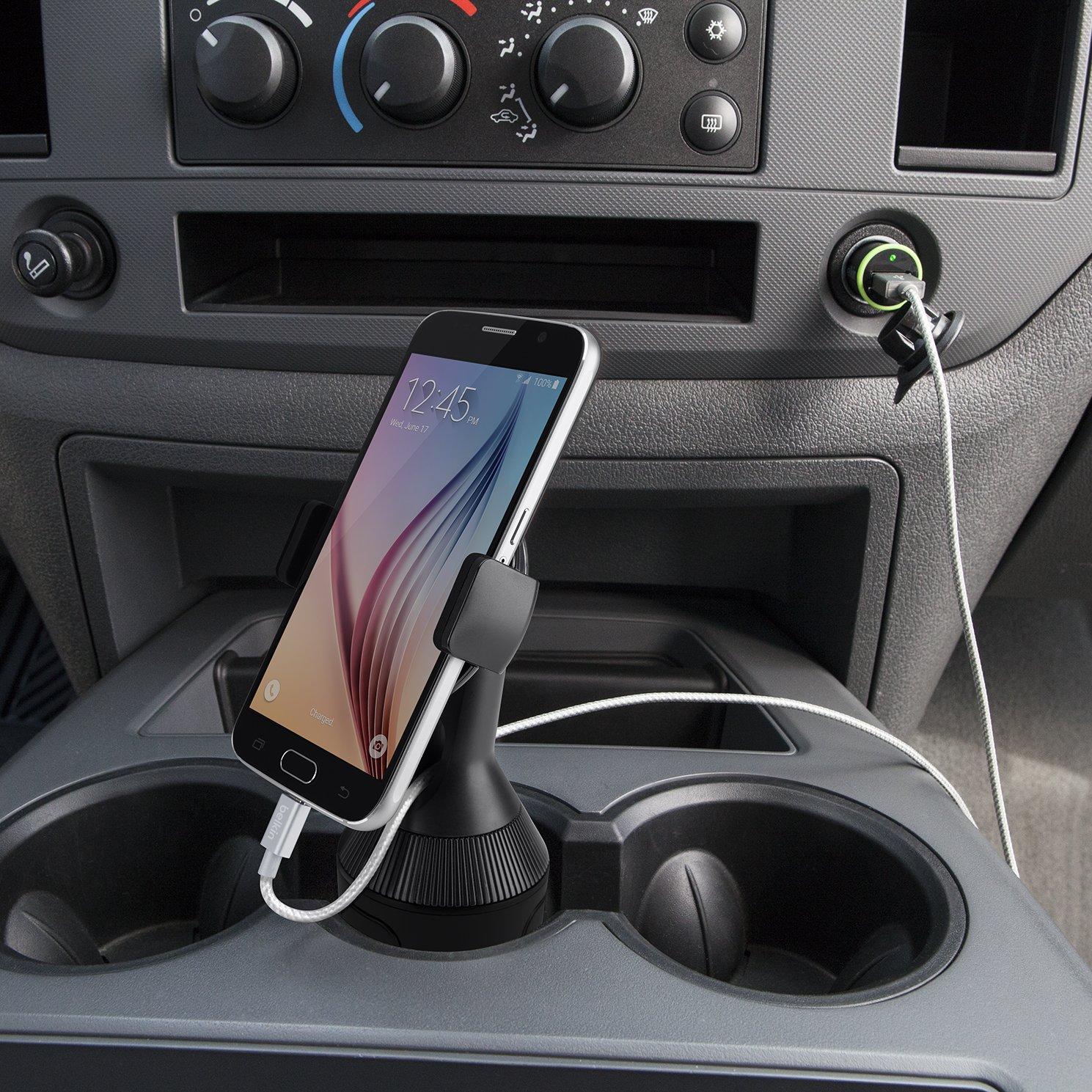 geeignet f/ür iPhone/XS, XS/Max, XR, X, 8//8/Plus, Samsung/Note9, S9//S9+ sowie Ger/äte von LG, Sony, Google und anderer Hersteller Belkin Auto-L/üftungshalterung