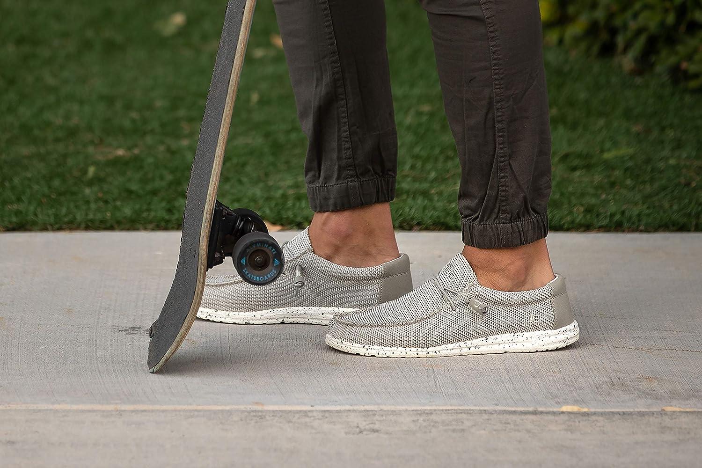 Scarpa Casual Slip-On da Uomo Ash Progettata in Italia e California Size EU 45 // US 12 Hey Dude Wally Sox Comfort e Leggerezza Soletta Ergonomica in Memory Foam