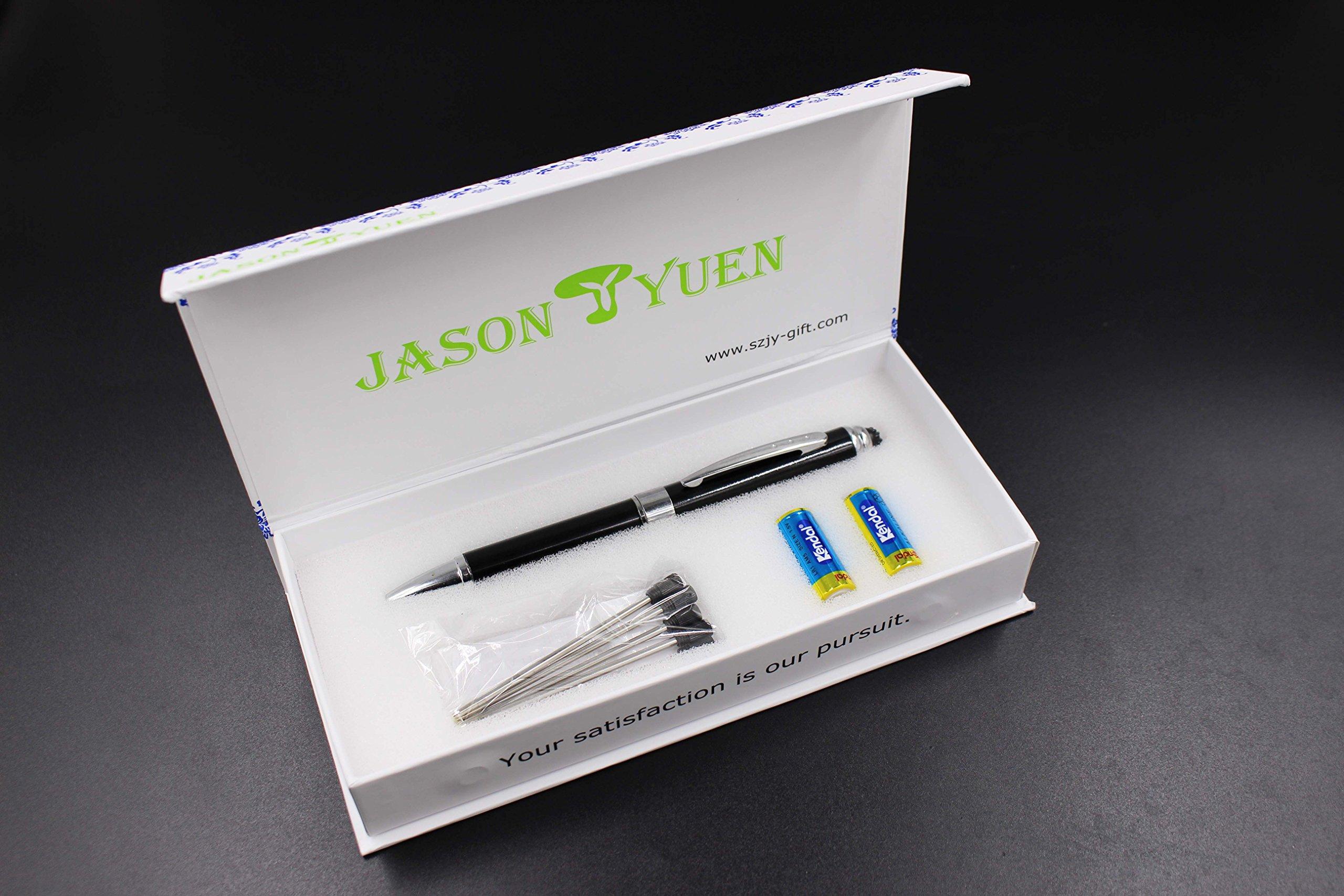 2 in 1 Vibration & massage ballpoint pen - mini Massage Tip Pen with Gift Box - Multifunction Electronic Pen (Black) by JASON YUEN (Image #8)