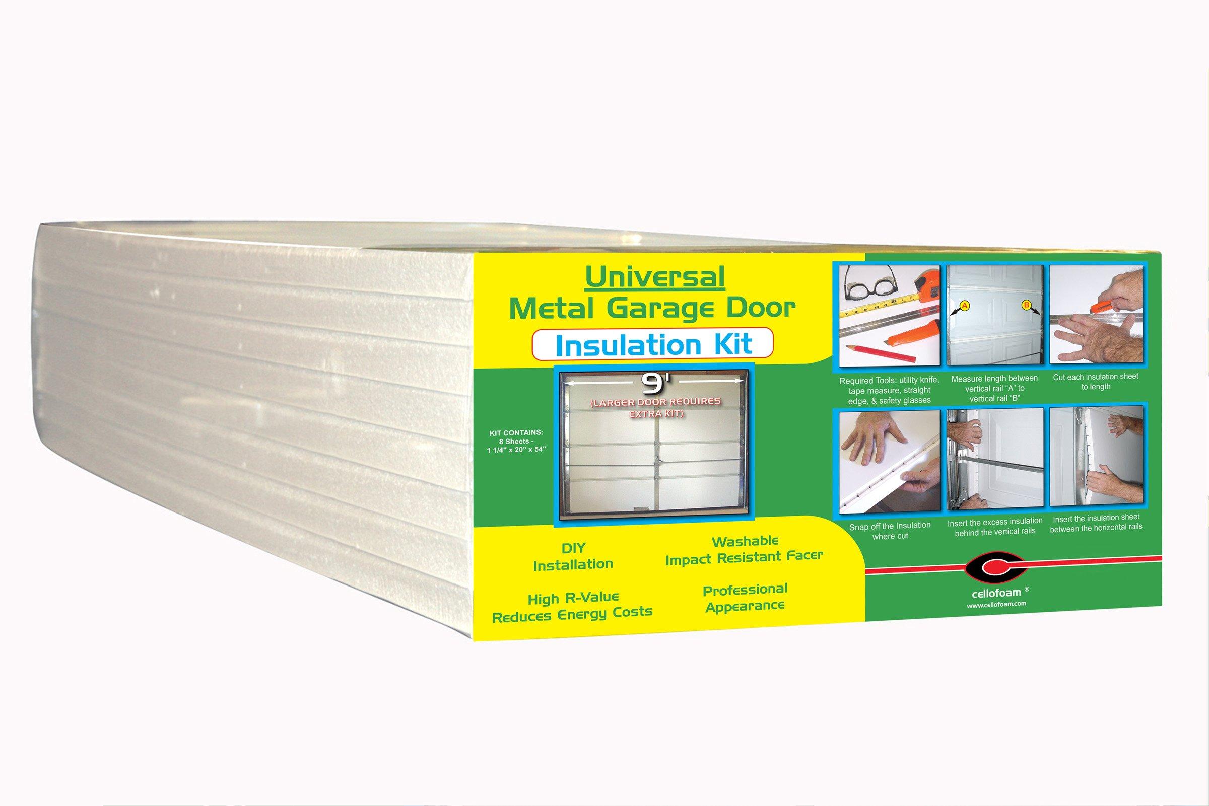 Garage Door Insulation Kit - 8 Foam Panels by Cellofoam