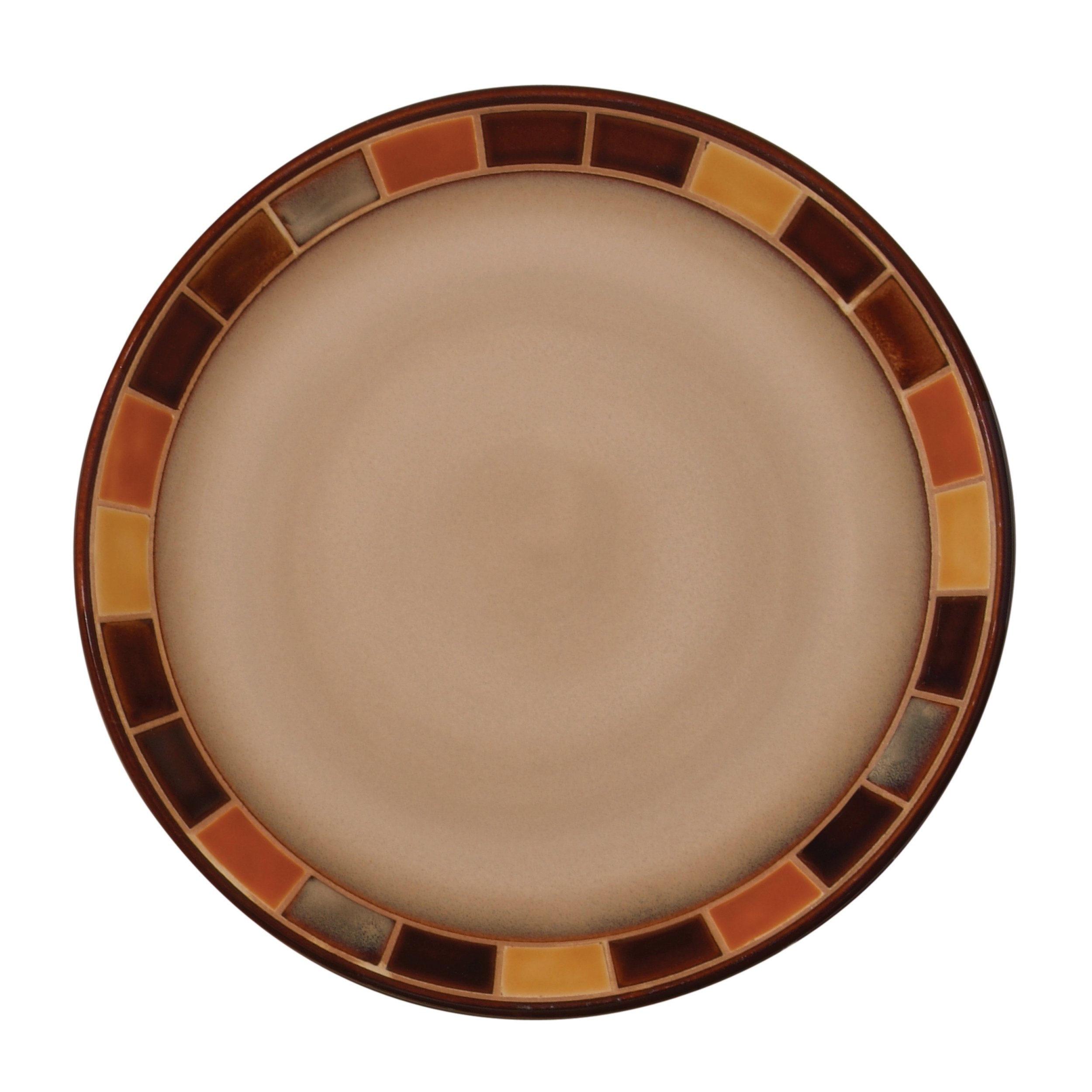 Gibson 70736.16RM Casa Estebana 16-piece Dinnerware Set Service for 4, Beige and Brown by Gibson (Image #4)