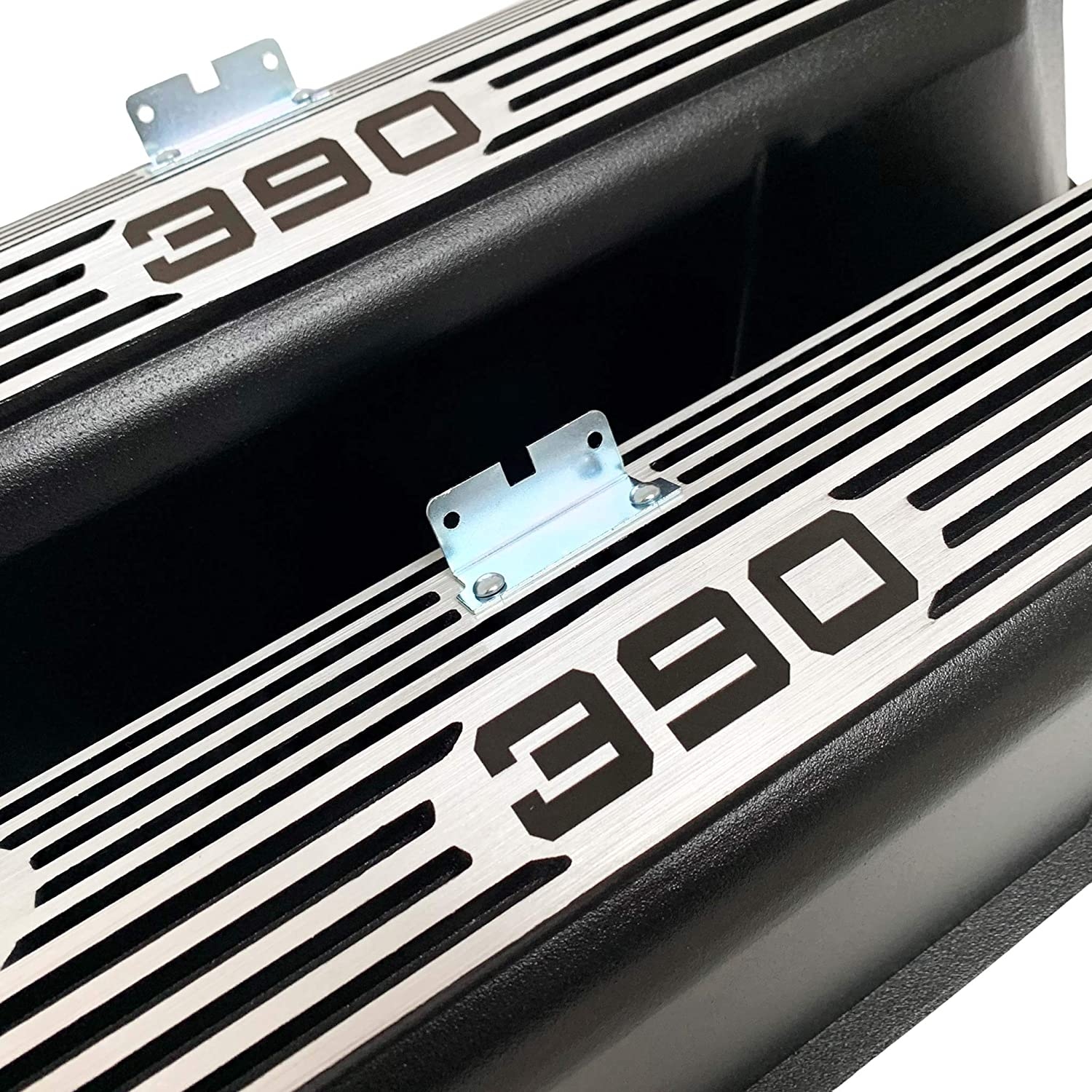 Compatible with Ford FE 390 Tall Black Die-Cast Aluminum Valve Covers
