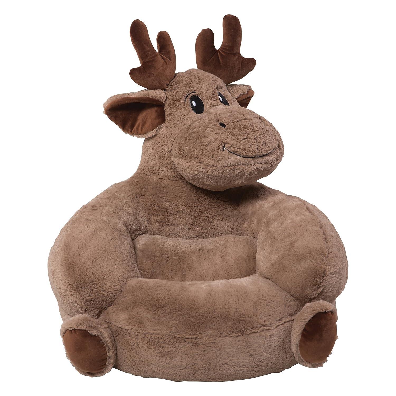 Kids Bedroom Chair Plush Moose Snuggling Toddler Beanbag Style