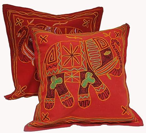 Amazon.com: 2 Rojo bautiful Navidad decorativas de almohada ...