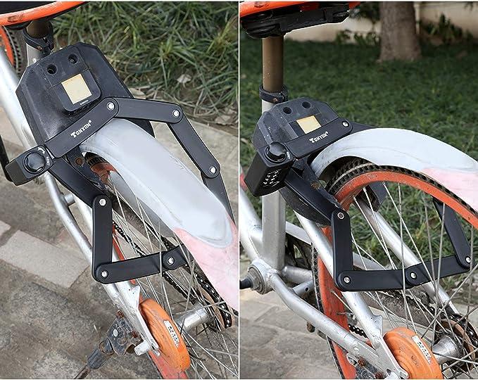 amzn prime Bicicleta de candado de código de números: Plegable ...