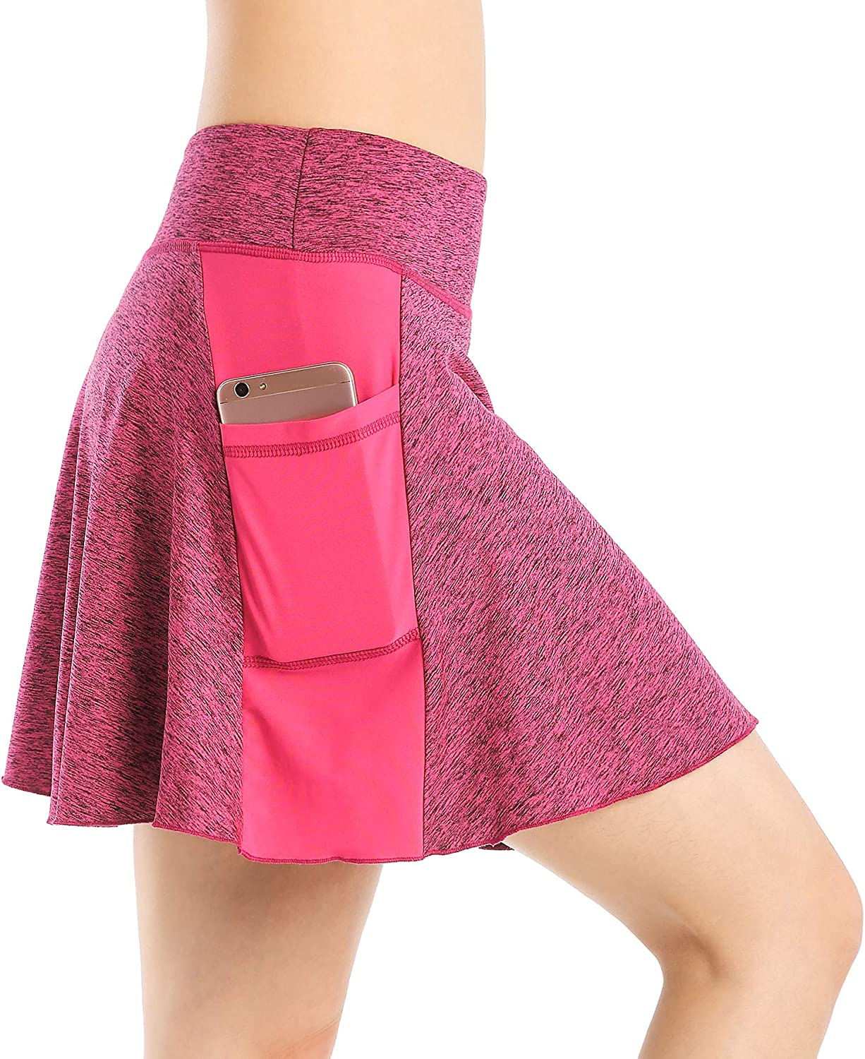 EAST HONG Womens Active Athletic Skort Lightweight Skirt with Pockets