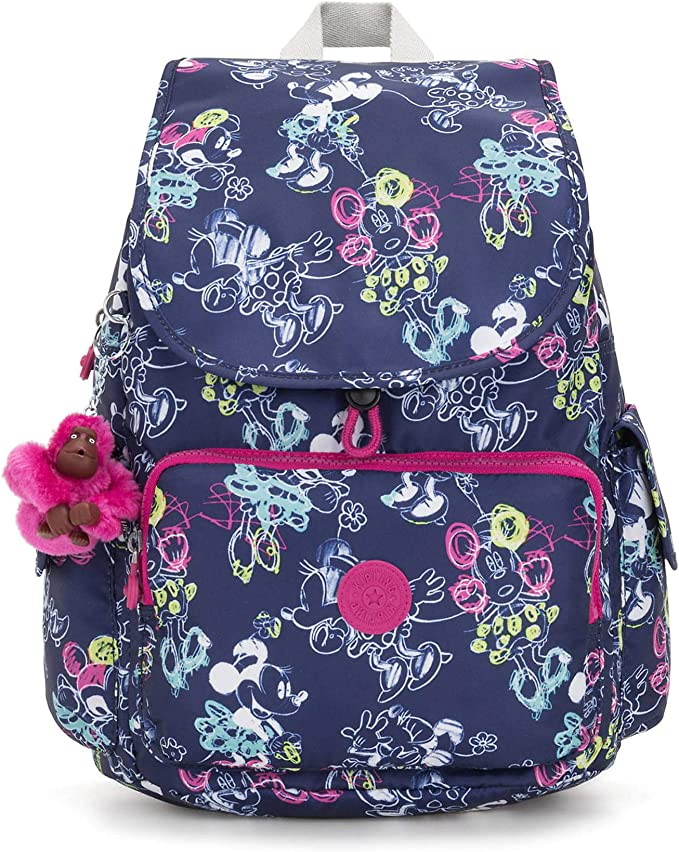 Kipling Disney/'s Minnie Mouse And Mickey Mouse City Pack Backpack Sketch Grey