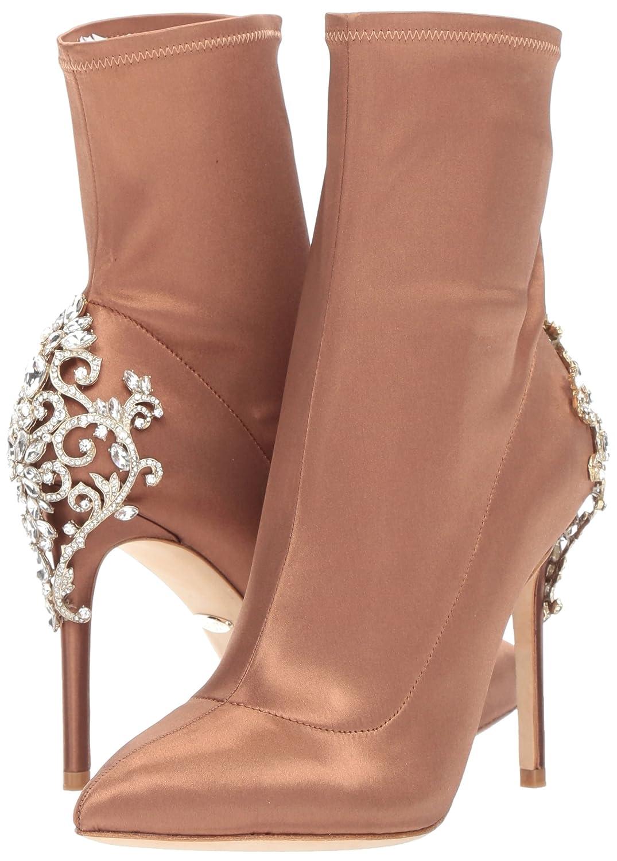 Badgley Mischka Women's Meg Ankle Boot B07351K8VN 5 B(M) US Dark Nude