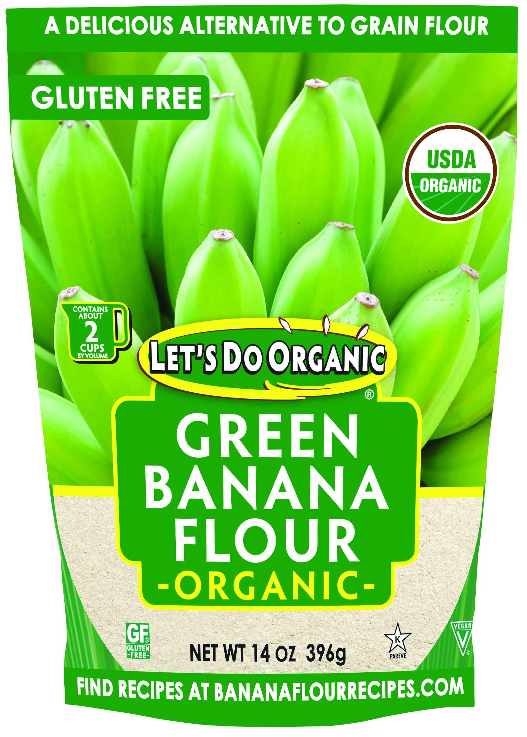 Let's Do Organic Green Banana Flour, 14 Ounce (BWA25059)