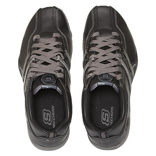 Skechers - Mocasines para hombre, color negro, talla 12: Amazon.es: Zapatos y complementos