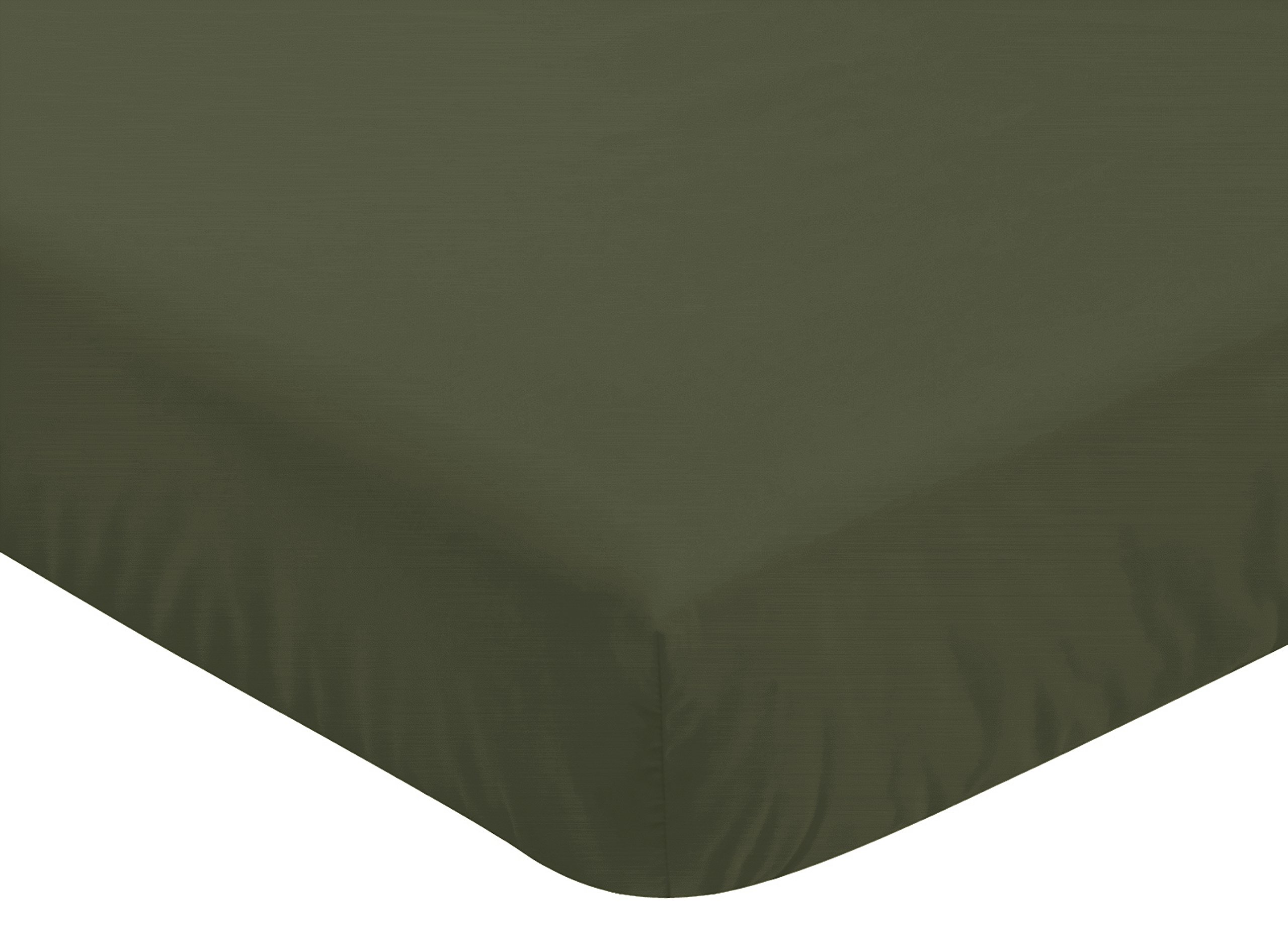 Sweet JoJo Designs Solid Dark Green Baby or Toddler Fitted Crib Sheet for Woodland Camo Collection by Sweet Jojo Designs (Image #1)