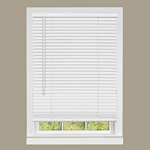 "Achim Home Furnishings DSG229WH06 Deluxe Sundown G2 Cordless Blinds, 29"" x 64"", White"
