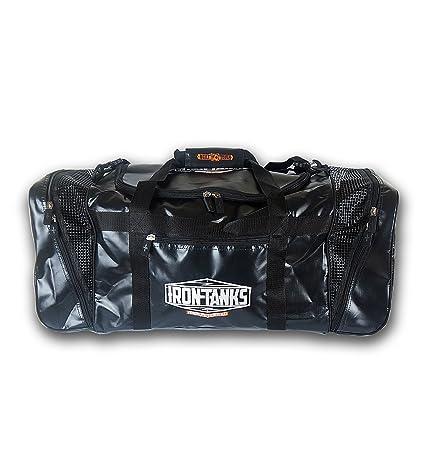 991185a3279b Amazon.com : Iron Tanks Pro Gym Bag Black - Bodybuilding ...