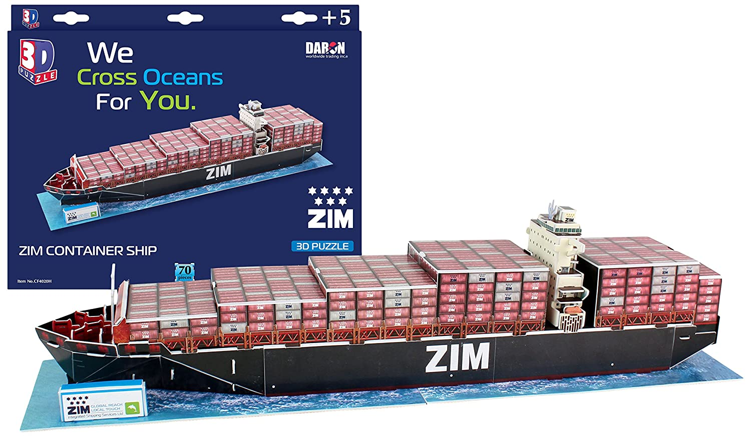 Daron Zim Container Ship 3D Puzzle (70-Piece) by Daron