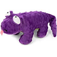 goDog, Action Plush Lizard, Animated Squeaker Dog Toy, Bite-Activated Motion, Chew Resistant + Reinforced Seams
