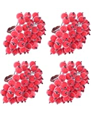 TUPARKA Christmas Holly Berries Artificial Berries for Christmas Wreath Decorations Wreath Making Supplies Christmas Party Decoration