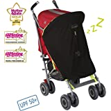 SnoozeShade Original - baby stroller sunshade and blackout blind for strollers (blocks 99% UV)