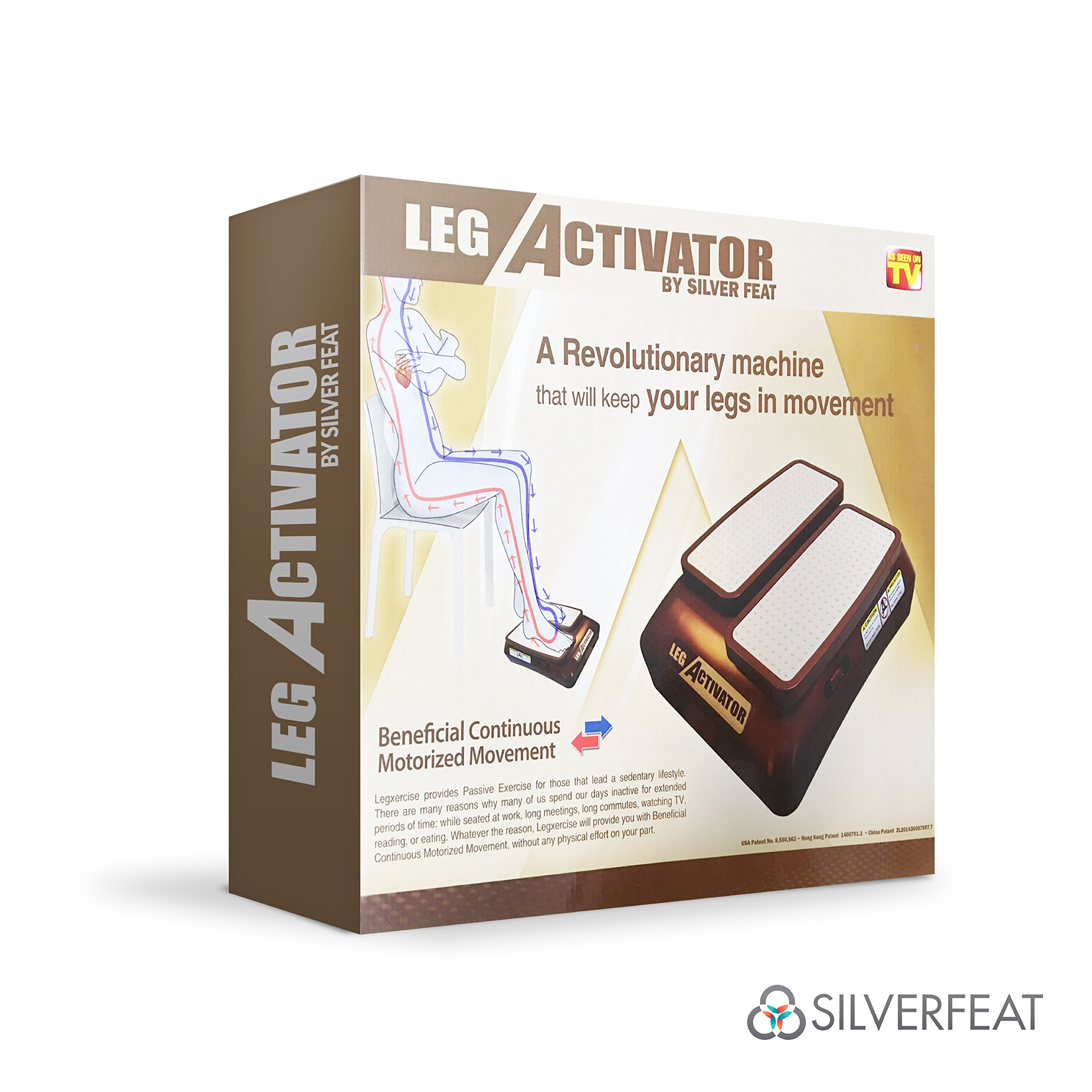 LegActivator - The Seated Leg Exerciser & Physiotherapy Machine for Seniors that Improves your Health and Blood Circulation while Sitting in the Comfort of your Home or Office by Silverfeat (Image #9)