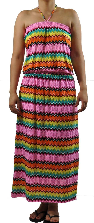 Amazon.com: COOGI Women\'s Zig Zag Multi Color Halter Top ...