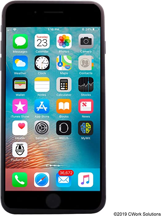 Apple iPhone 8 Plus, 64GB, Space Gray - Fully Unlocked (Renewed)