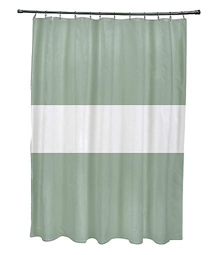 Amazoncom E By Design Narrow The Gap Stripe Print Shower Curtain
