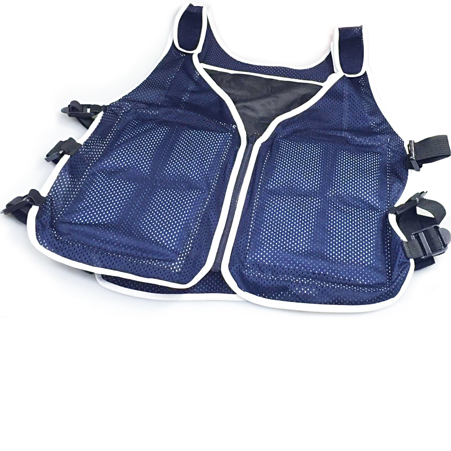 New Home Innovations NHI Cooling Vest - 8 x Body Ice Packs for Double Cooling Time - #1 Ice Cooling Vest for MS - Sport - Motorcycle - Cooking - Mascot - Cosplay Adjustable Cooling Shirt by New Home Innovations