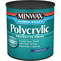 Minwax 63333444 Polycrylic Protective Wood Finish, Clear Satin, 1 Quart