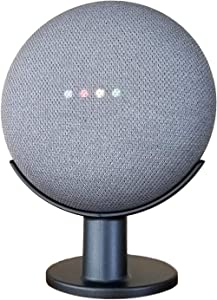 Mount Genie Pedestal for Nest Mini (2nd Gen) and Google Home Mini (1st Gen)   Improves Sound and Appearance   Cleanest Mount Holder Stand for Mini (Charcoal)