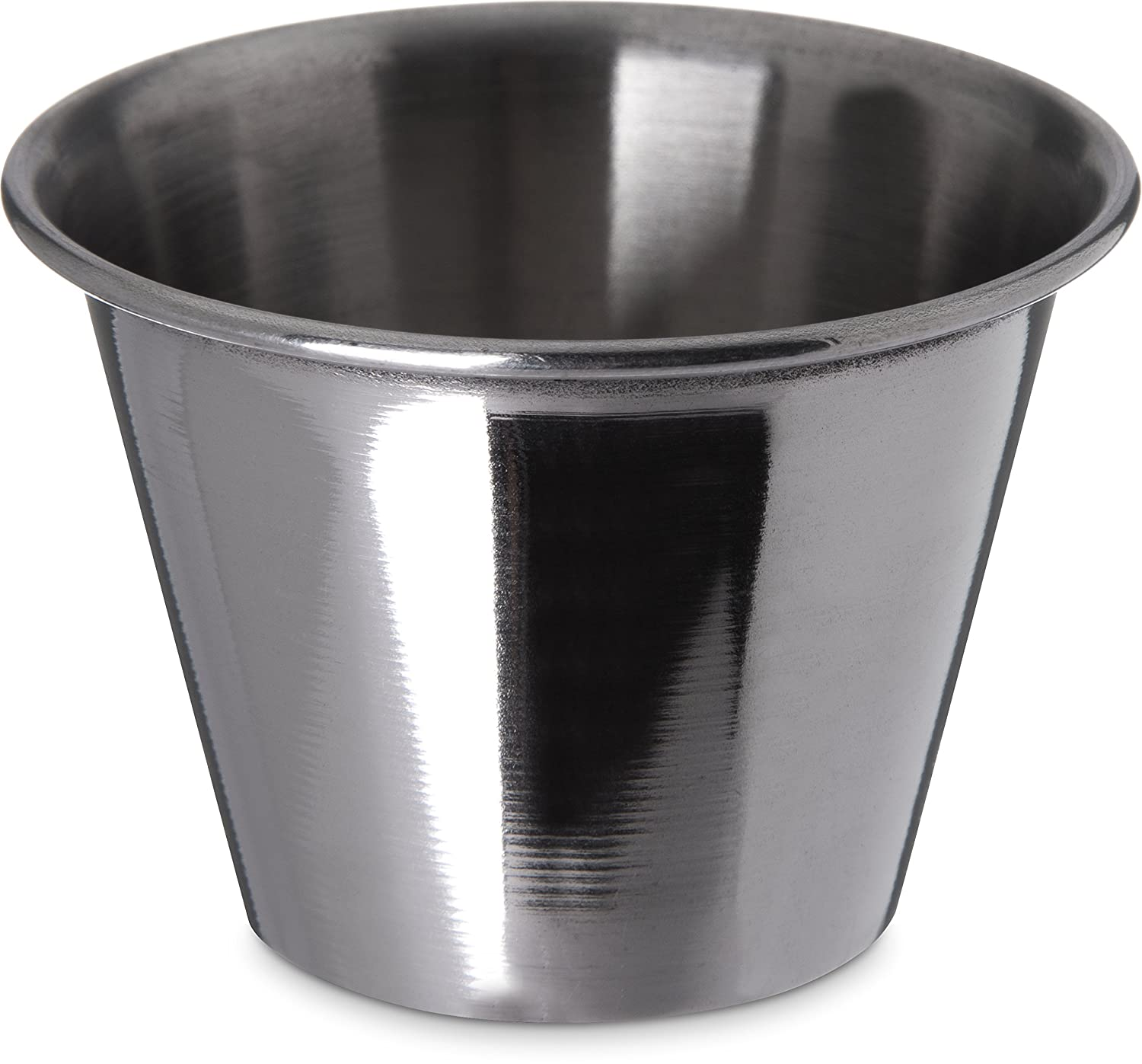 Carlisle 602500 Ramekin Dipping Sauce Cup, 2.5 oz, Stainless Steel (Pack of 12)