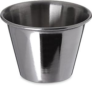 Carlisle 602500 Ramekin Dipping Sauce Cup, 2.5 oz, Stainless Steel (Pack of 12)