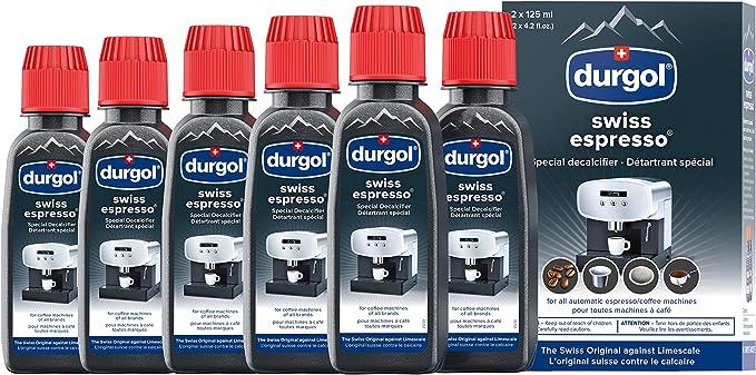 Durgol Swiss 0291 Espresso Descaler/Decalcifier 4.2 oz 3 Pack (6 bottles)