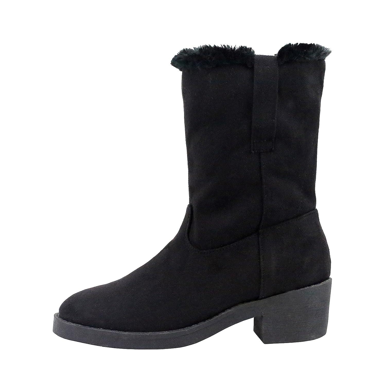 Retro Boots, Granny Boots, 70s Boots Olivia Miller Rego Fur Lined Dual Tab Boots $28.49 AT vintagedancer.com