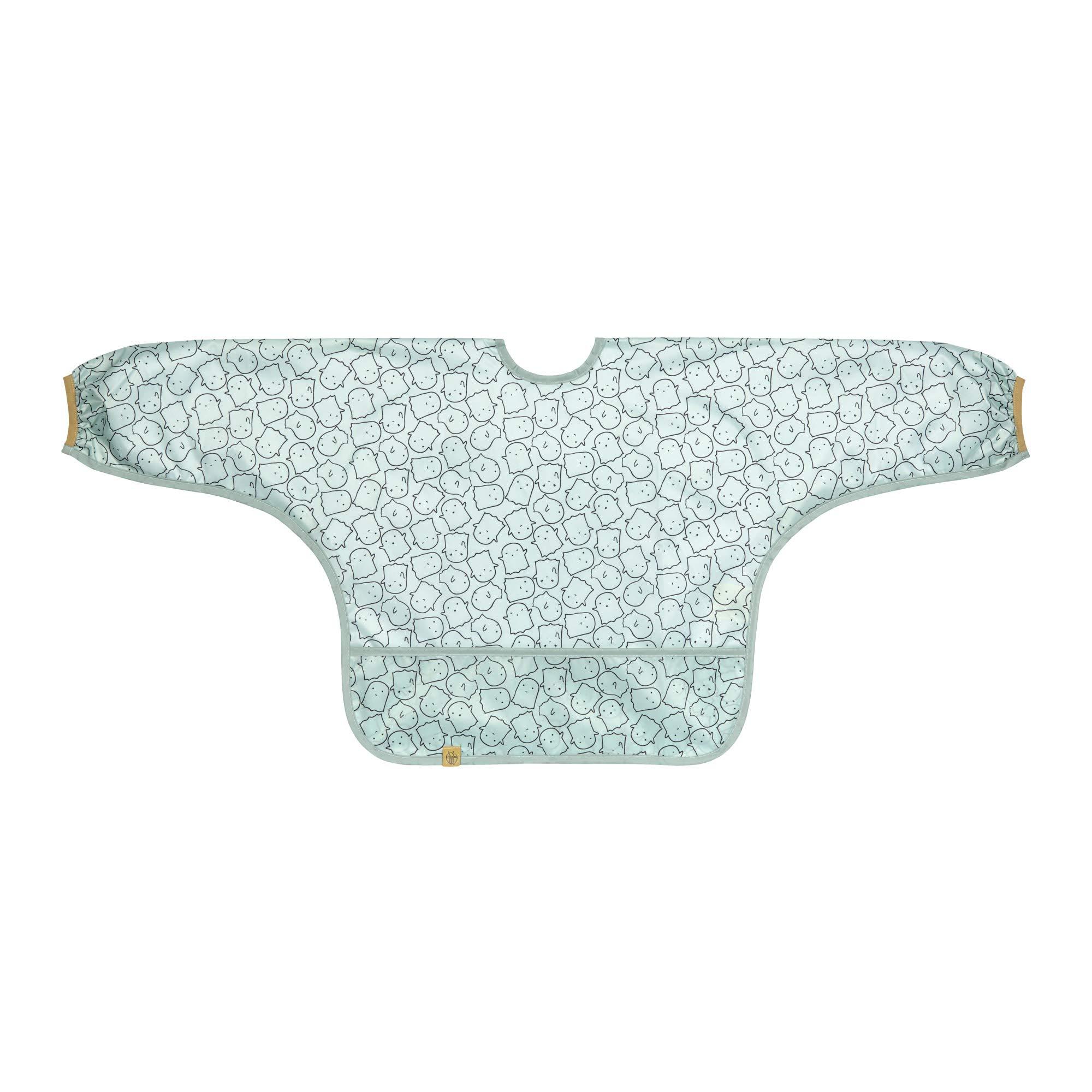 Lassig Long Sleeve Waterproof Bib with Pocket - Little Spookies Olive