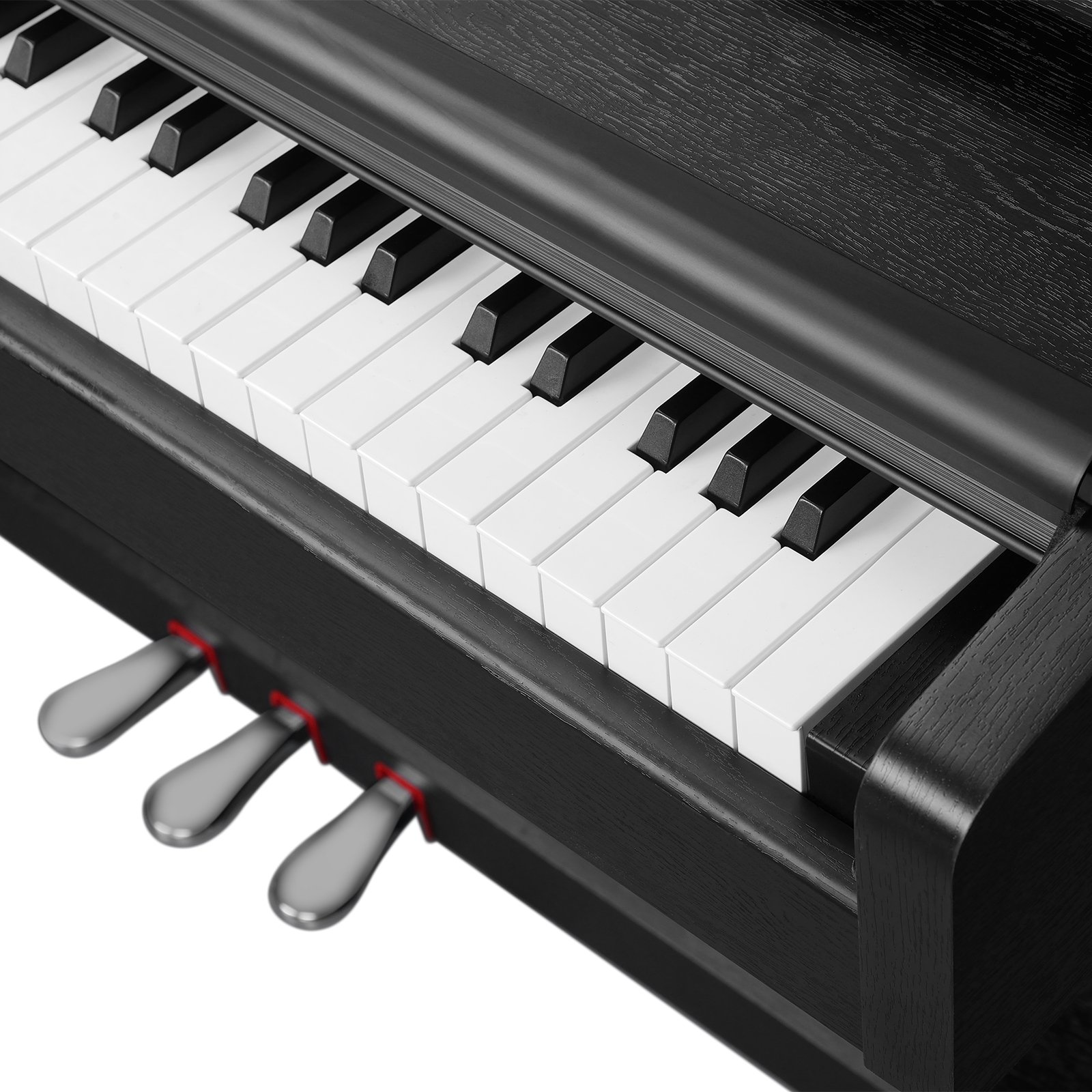 LAGRIMA Digital Piano, 88 Keys Electric Keyboard Piano for Beginner(Kids/Adults) w/Music Stand+Power Adapter+3 Metal Pedals+Instruction Book, 2 Headphone Jack/Midi/USB Audio Output by LAGRIMA (Image #7)