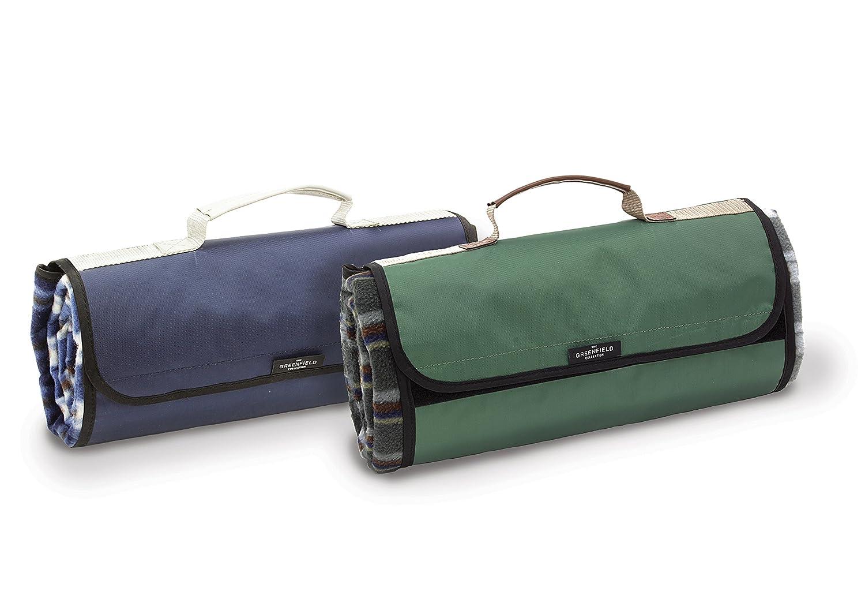 #Luxoriöse Picknickdecke aus der Greenfield Collection in förstergrün#