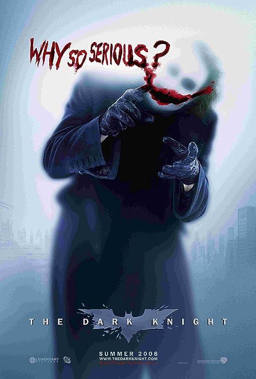 "Joker Heath Ledger Why So Serious Wall Poster 24/"" Batman the Dark Knight Movie"