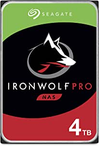 Seagate IronWolf Pro 4TB NAS Internal Hard Drive HDD – 3.5 Inch SATA 6Gb/s 7200 RPM 128MB Cache for RAID Network Attached Storage, Data Recovery Service – Frustration Free Packaging (ST4000NE001)