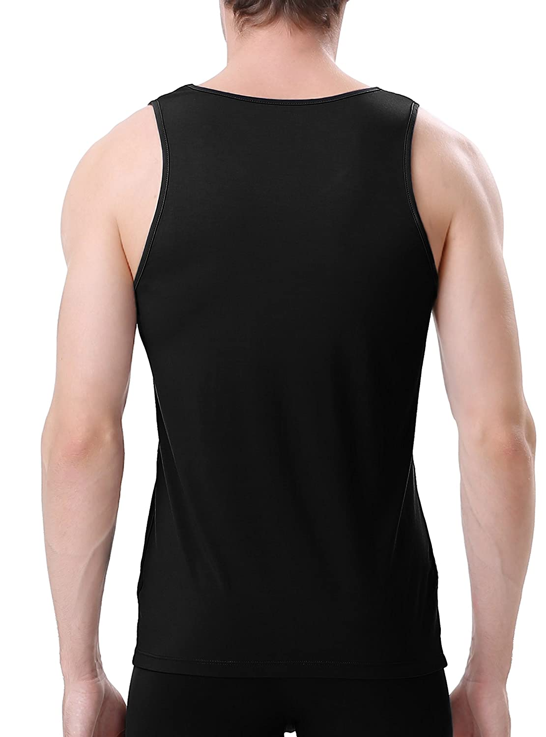 f4ff571136ee1 Amazon.com  David Archy Men s Bamboo Rayon   Cotton Undershirts Crew Neck  Tank Tops in 3 or 4 Pack  Clothing